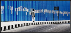 the blue wall (Sukanto Debnath) Tags: blue bravo sony hyderabad f828 themoulinrouge debnath abigfave colorphotoaward ysplix sukanto sukantodebnath