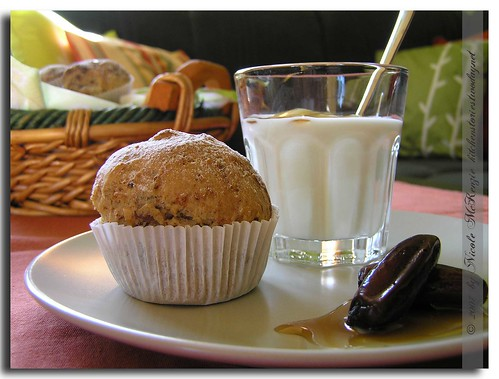 Bürokaffeetisch: germmuffins mit datteln
