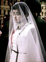 (Sameli) Tags: wedding portrait white eye girl look death bride blood helsinki eyes sad dress zombie walk ghost eerie haunted creepy spooky horror nightmare zombiewalk