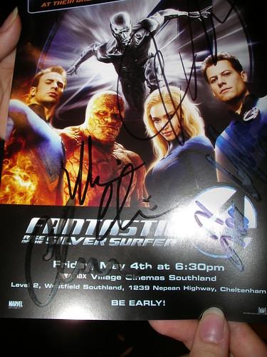 Full cast autograph