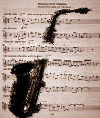 Saxophone and Script (Patrick Costello) Tags: music project d50 script sax saxophone