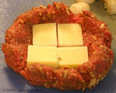 Stuffed Mushroom and Cheddar Burger: Add the Cheese