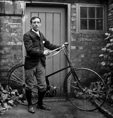 Victorian cyclist, circa 1890.