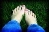 Barefoot in the grass / Picture of the Day ~ 5/11/07 (Kerrie Lynn Photography (Sugaree_GD)) Tags: feet grass tattoo 50mm toe nail polish tattoos views barefoot 1000 sugareegd focuslegacy