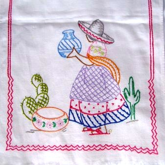 Mexican Girl Embroidery