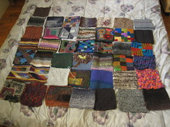 41 swatches for a blanket