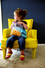 the yellow chair (sesame ellis) Tags: girl yellow kid chair toddler child goldfish mykid topanga year3 racheldevine wwwracheldevinecom