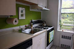 kitchen - after! (jodi*mckee) Tags: green kitchen benjaminmoore tequilalime apartmenttherapyafter