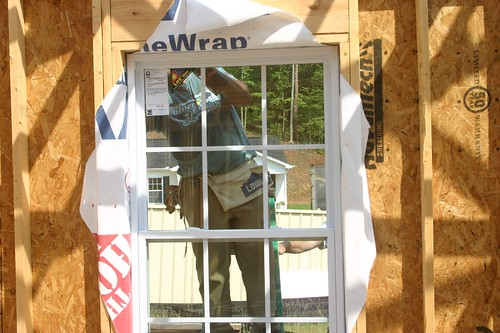 Window being installed