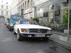Mercedes SL R 107 (claudia987) Tags: vienna wien white mercedes benz austria stern weiss oesterreich r107