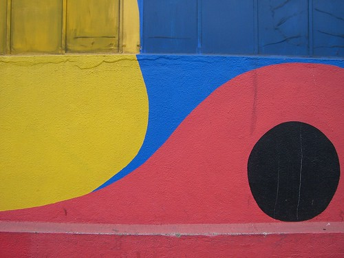 Yellow, blue, red and black.