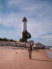 Crisp Point Lighthouse (heidigoseek) Tags: lighthouse beach up mi michigan upperpeninsula lakesuperior crisppoint crisppointlighthouse