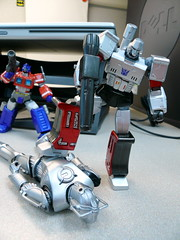 It's over, Cyberman. (Despotes) Tags: doctorwho cyberman megatron geekculture optimusprime kaiyodo goofingoffatwork revoltech