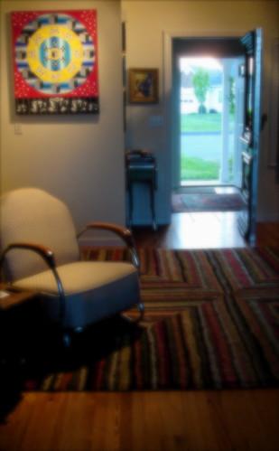 front doors open
