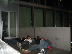 Train station sleeping