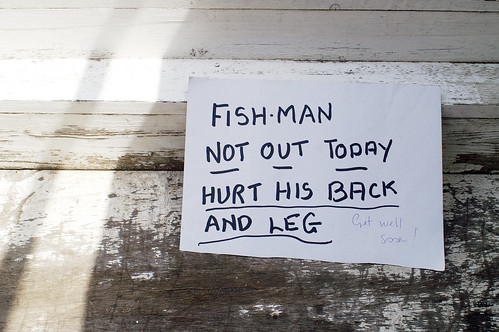 fish man not out