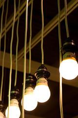 hanging lighbulbs