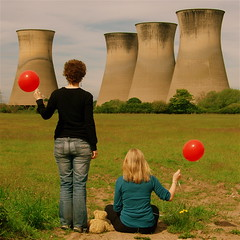 The red balloon diaries *3 (cattycamehome) Tags: uk trees girls red portrait england field tag3 taggedout balloons landscape spring women bravo tag2 colours tag1 power teddy bright britain quote surrealism derbyshire watching towers balloon dream meadow surreal dreams electricity powerstation redballoon dhlawrence coolingtowers willington redballoons catherineingram supershot outstandingshots duefordemolition may2007 outstandingshot willingtonpowerstation cattycamehome fasttag allrightsreserved howwearenow