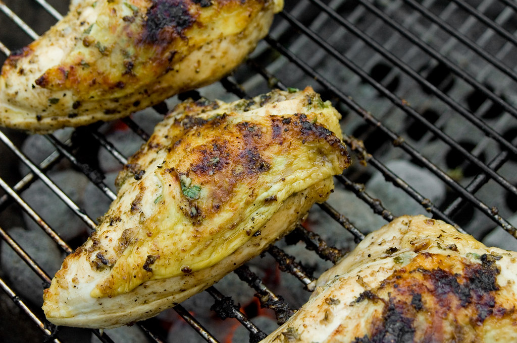 Thai Grilled Chicken Breasts with Spicy, Sweet, and Sour Dipping Sauce
