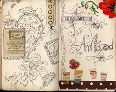 Moleskine page 13 (Joei Lau) Tags: art moleskine ink handwriting paper book handmade journal line letter journals alphabets sleevs