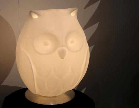 ICFF 2007, Rick Lee, Owl lamp, Habby lamp