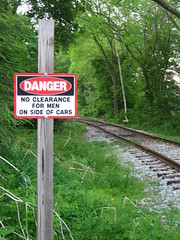 No Clearance On Side of Train