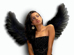 Dark Angel (AniSuperNova83) Tags: selfportrait black girl angel photoshop ana wings yo negro autoretrato nia alas ani onwhite fotomontaje anawesomeshot supernova83 flickrglam betterthangood