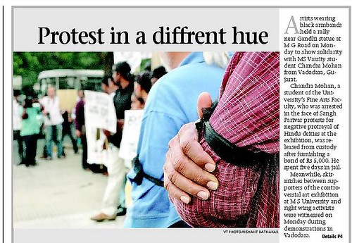 Protest in a different hue