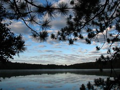 Beauty of the north woods. (ET Photo Home!) Tags: morning camping trees camp lake reflection water beauty clouds woods northwoods naturesfinest colorphotoaward whitedeerlake