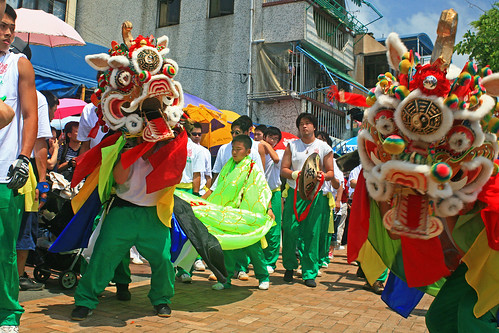 Dancing Cheung Chau Dragons