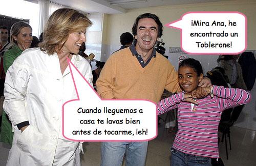 Aznar y señora fingiendo un poco