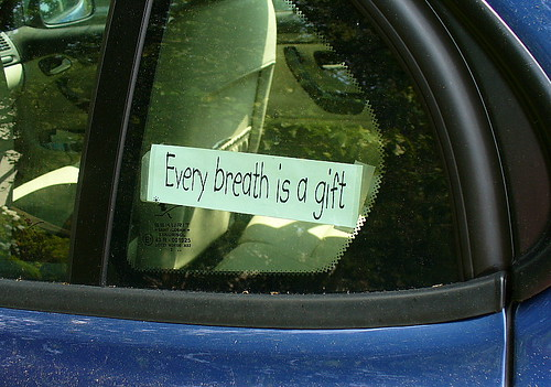 Every breath is a gift, Newton, MA