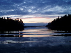 Wonderful nature & sunset in vorm (marcolulu) Tags: sea wallpaper water night forest finland landscape great clelia