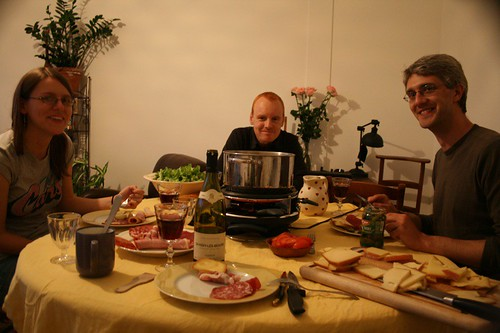 a meal of raclette