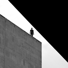 brutalism (Dean Ayres) Tags: blackandwhite bw london still solitude southbank solitary stillness royalfestivalhall nationaltheatre antonygormley eventhorizon geh blueribbonwinner