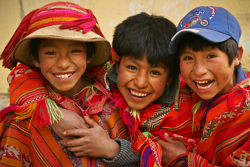 Three Boys in Huilloc, Peru