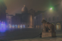 SILENT GUARDIAN (zozoros) Tags: reggioemilia piazzasanprospero sanprospero italy italia fog nebbia inverno winter