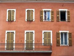 Balcony, Carcès, Var, Provence, France (Hunky Punk) Tags: dwwg balcony balcón balkon window shutters iron wood wall door carcès var provence france explore