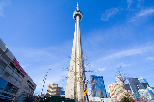 cn tower rogers centre toronto canada