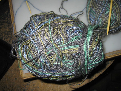 One unholy mess of a yarn ball