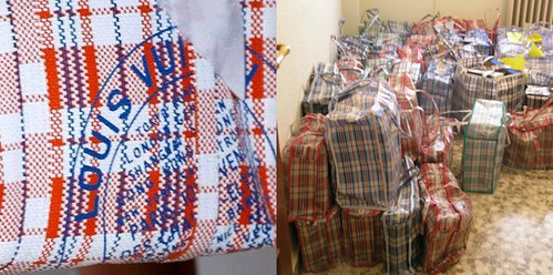 bags and stamps a plagiarism in plaid