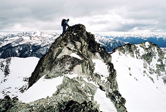 Mountain High (justb) Tags: mountain mountains rock climb high bc climbing alpine guessed stein whereamiinbc