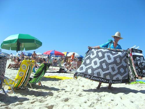 Vendedor de cangas, Praia de Ipanema