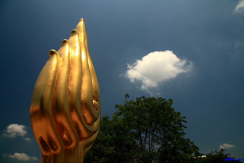 Another view of Queen Sirikit (logo) @ Bangkok