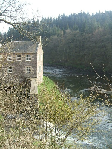The view at New Lanark Mill Hotel
