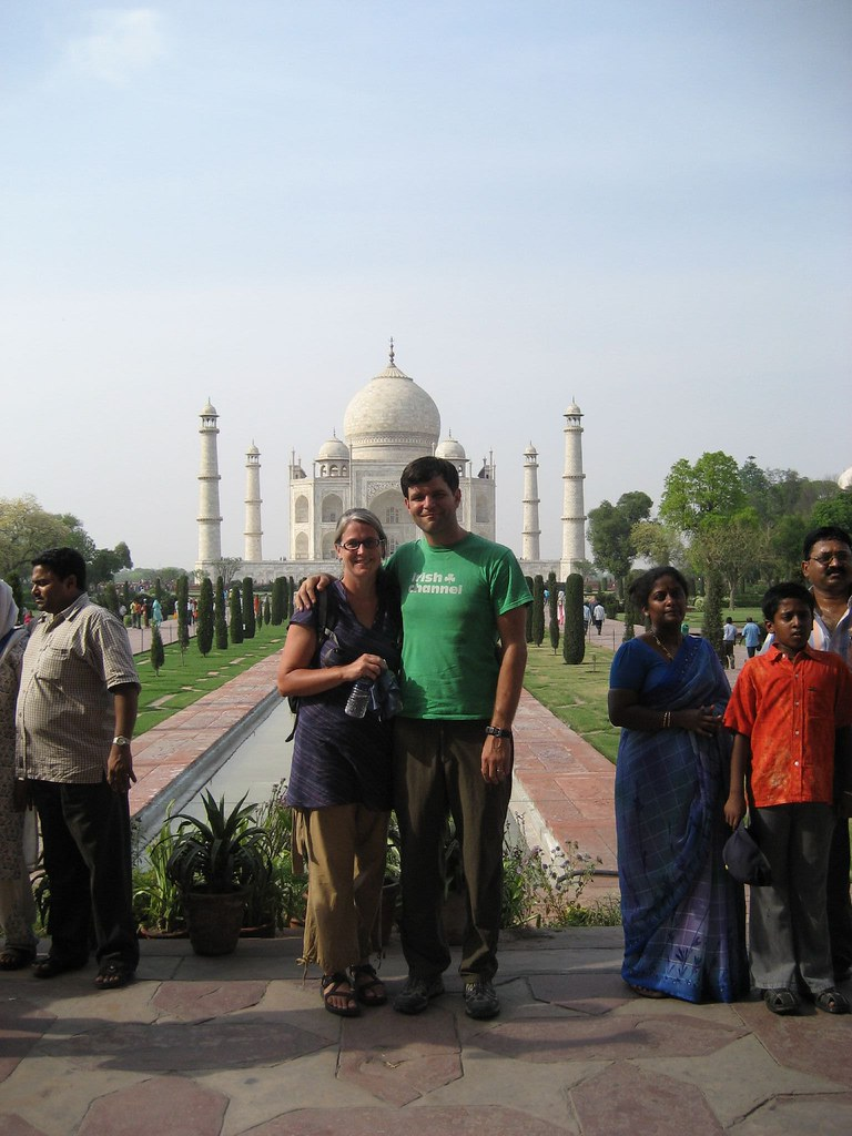 Dave and Lolo at the Taj