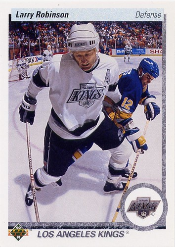 Larry Robinson, Los Angeles Kings, Upper Deck, 90-91, hockey cards