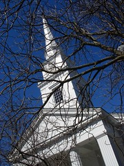 United Church of Christ church at Dartmouth (Ann Althouse) Tags: church steeple dartmouth unitedchurchofchrist