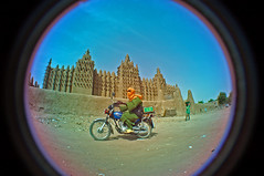 Djenne, a human marvel (anthonyasael) Tags: africa wood old city blue houses sky orange fish man black building heritage architecture stairs speed circle landscape temple grey construction gate open mud minaret board muslim prayer religion pray entrance culture indoor bluesky mosque unesco fisheye step goats invitation transportation wise motorcycle panels tradition mali amplifier protection inviting praise touareg mudbrick worldheritage cheche protected djenne talker muezzin traditionnal goatsheep asael traidtion goatssheeps muslimprayerplace prohibitedtononmuslimpersons religiou restrictedentrance transportationmeans fisheyecirclelensfisheye anthonyasael