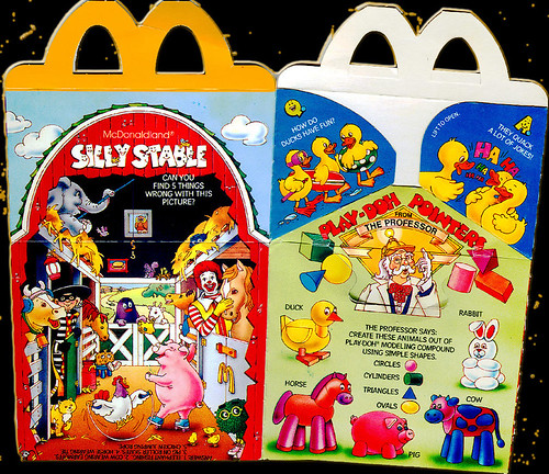 McDonald's Happy Meal featuring 'Play-Doh Modeling Compound'.. Farm Animals - ii (( 1986 ))